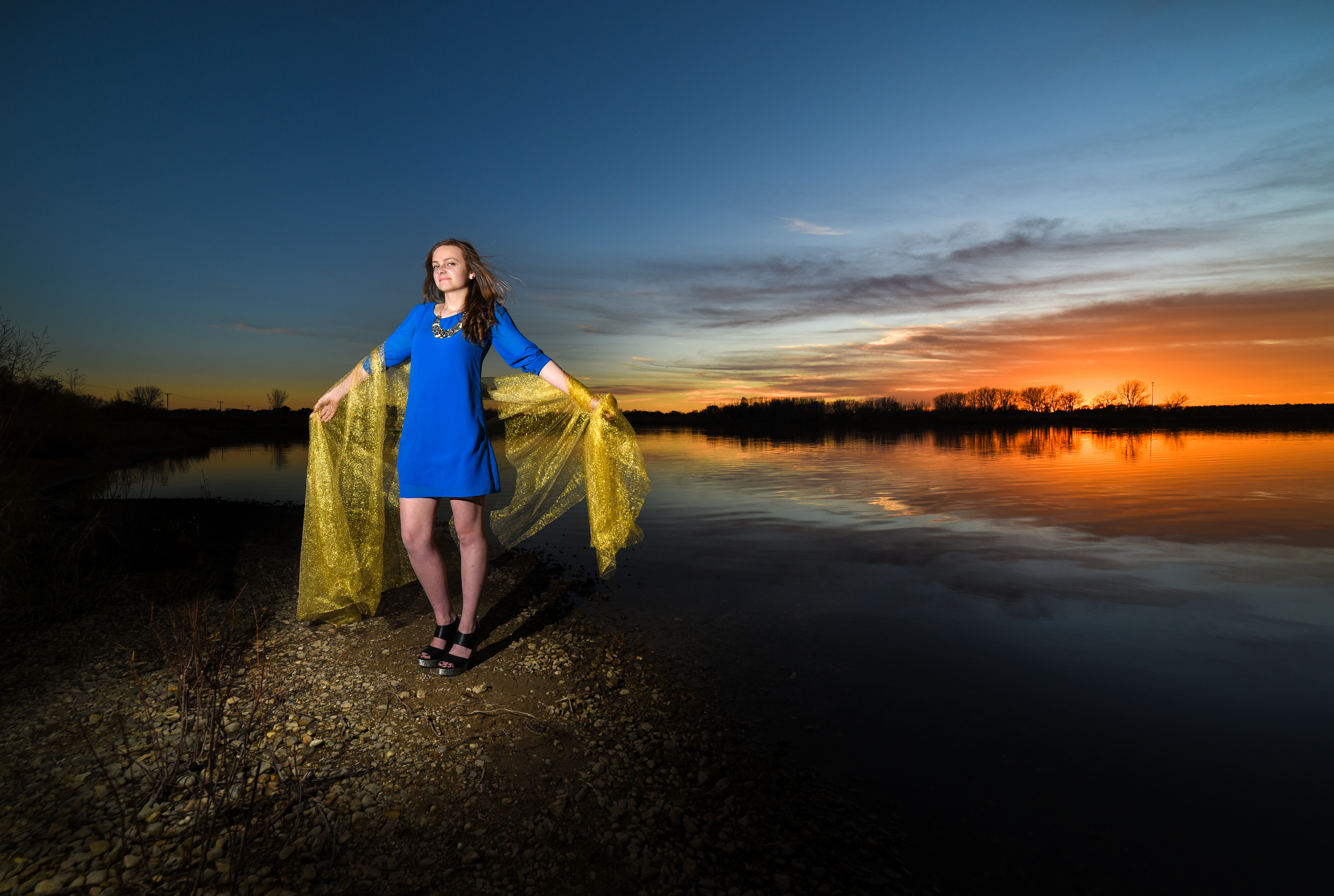 Shooting at sunset and underexposing by 1-2 stops gets really saturated colors making it really 'pop'.