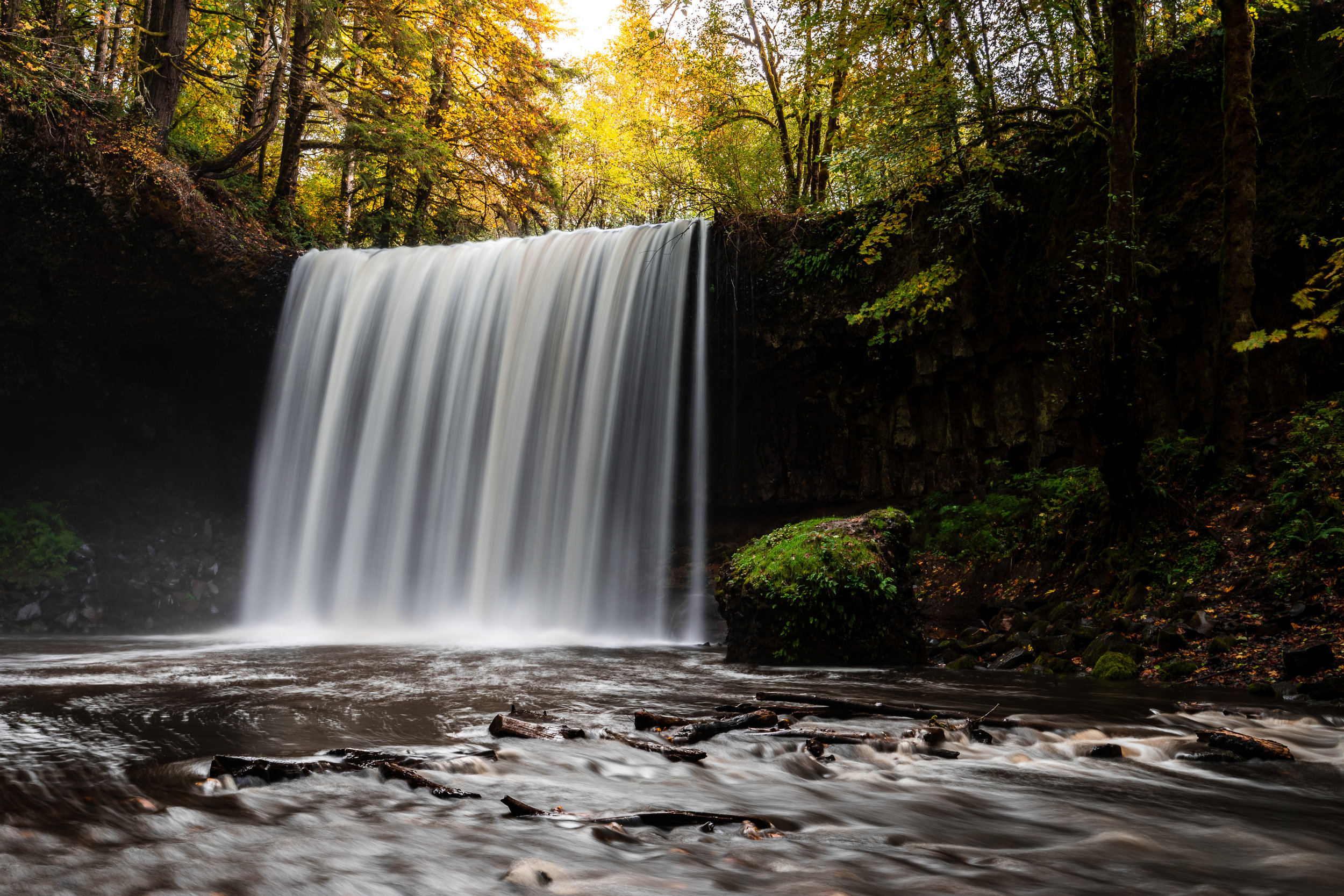 My favorite image from the trip out to Beaver Falls with the fall color being backlit by the last bit of sunlight!