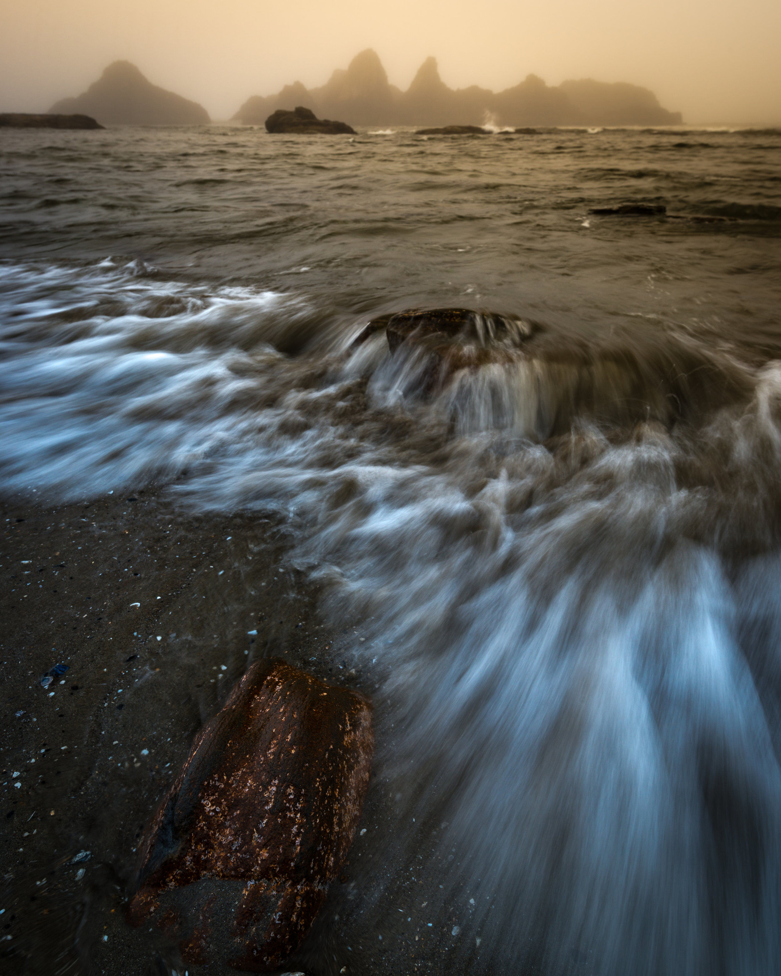 Motion in the waves at Seal Rock.