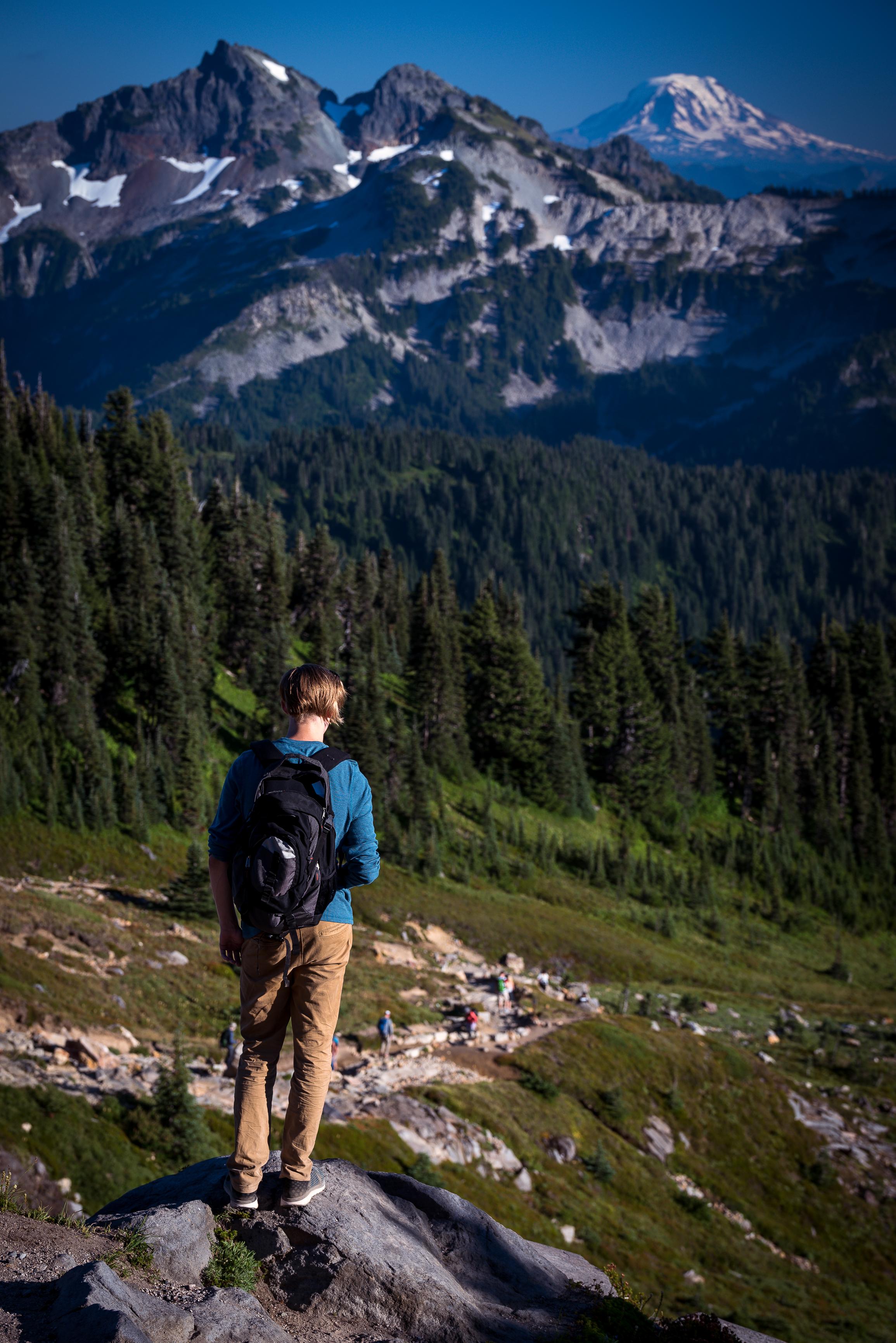 mt rainier national park hiker