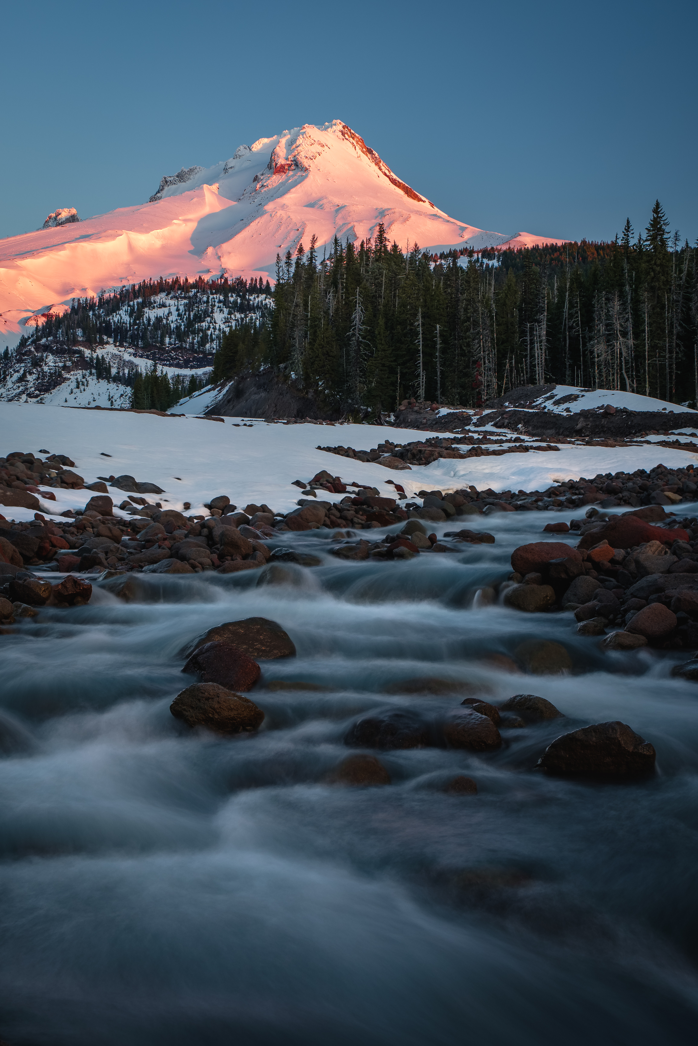 mt hood white river sunrise