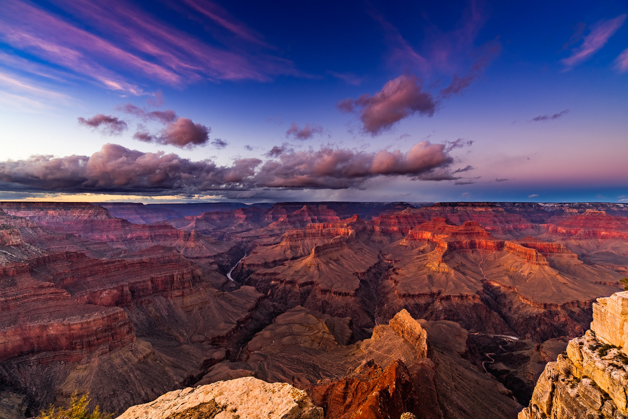 grand canyon national park sunset winter