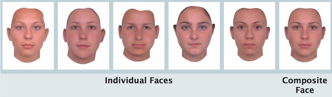 Example of averaging faces can create a more attractive image. http://faceresearch.org/students/averageness