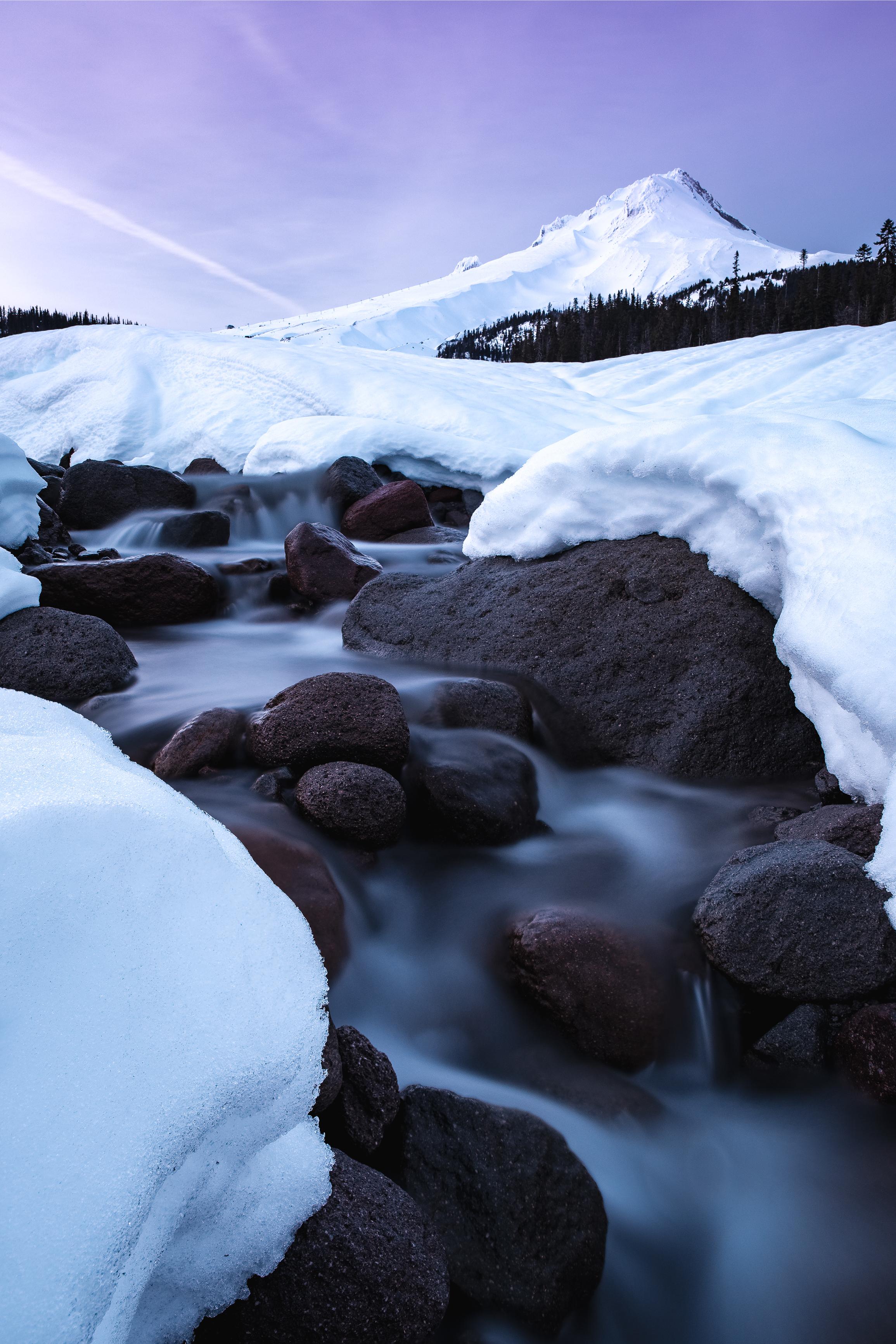 Mt Hood Sunset Oregon