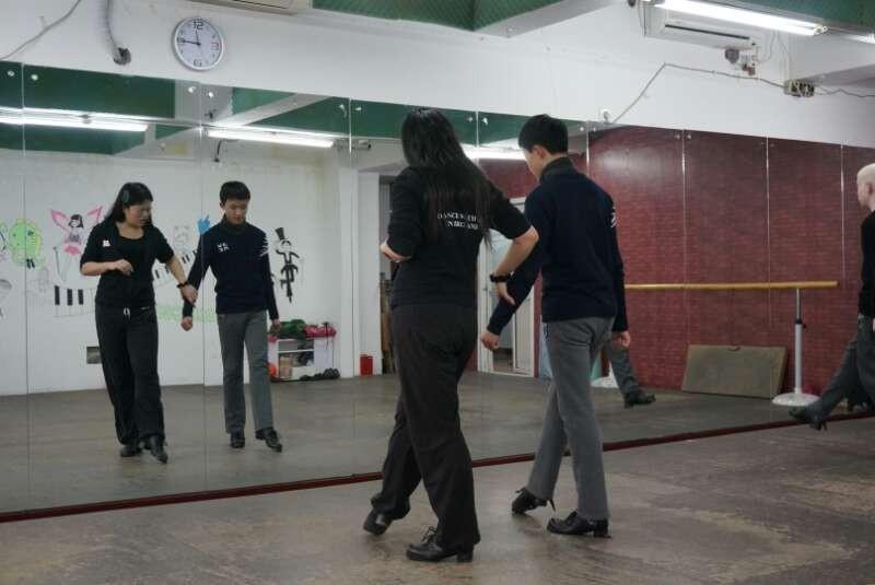 Ariel teaching at a class in Shanghai