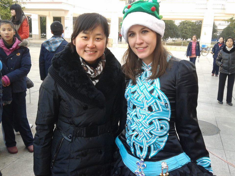 With Miss Wu in Zhangjiagang