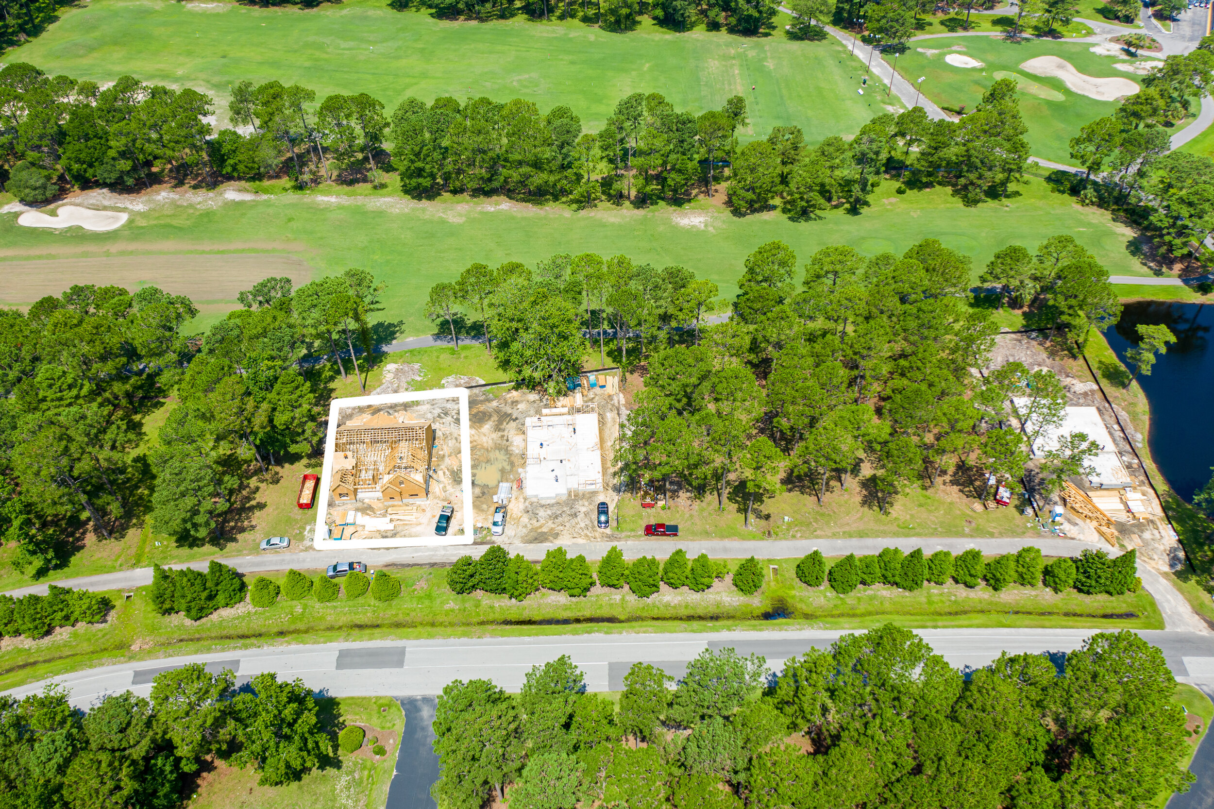 Aerial Photo of Lot 6 During Construction
