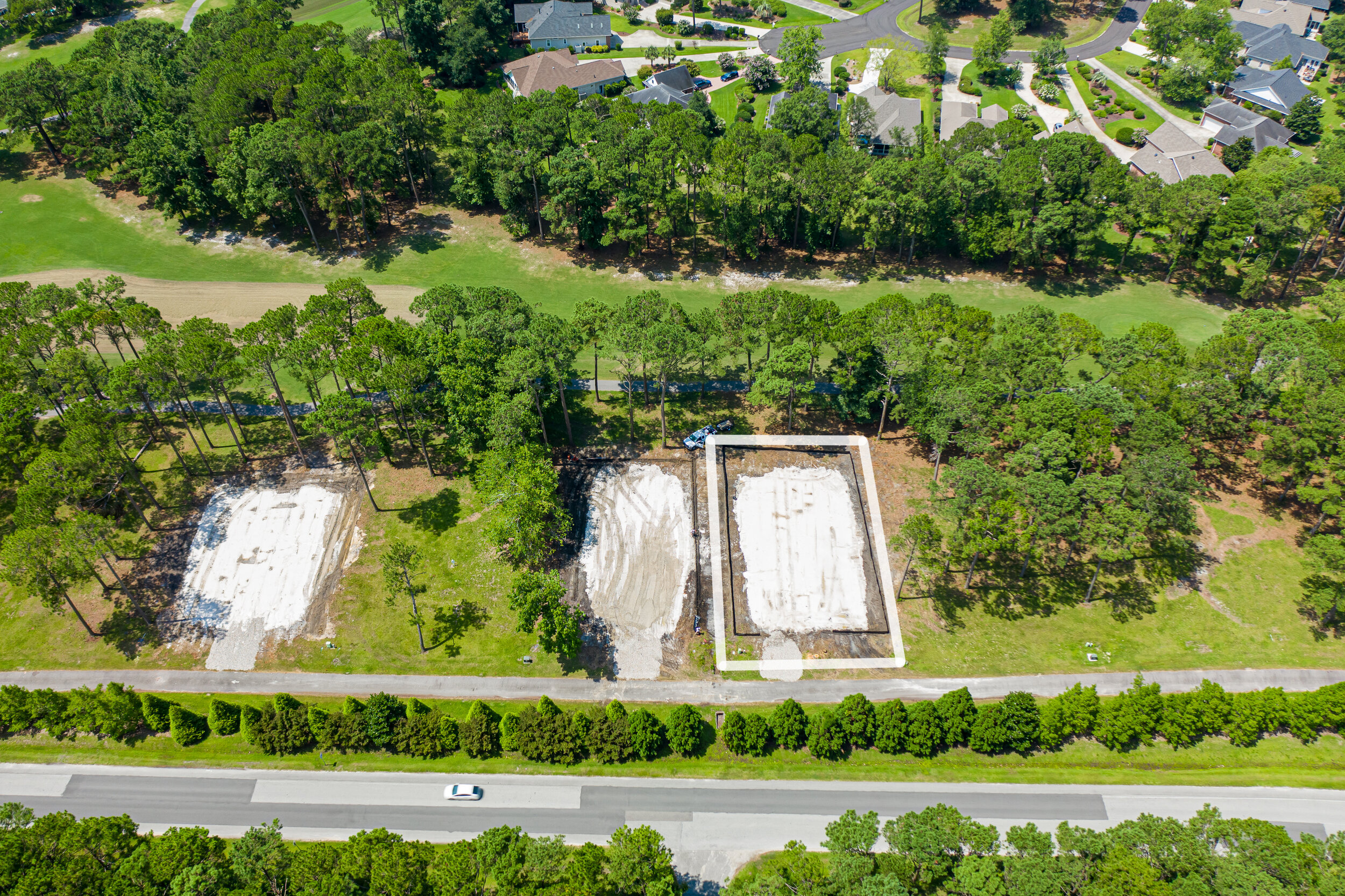 Aerial Photo of Lot 17 Prior to Construction