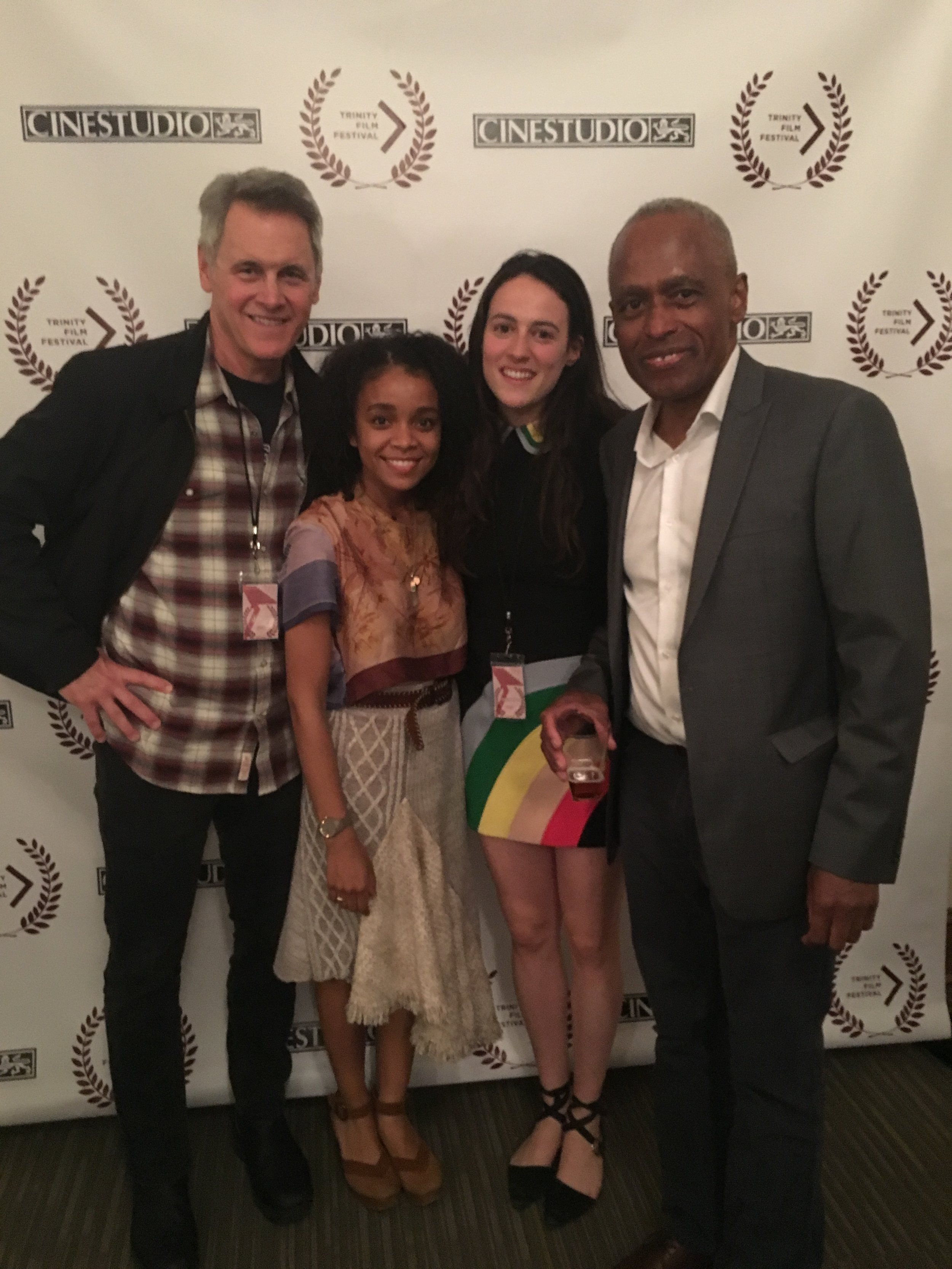 NIGHT - Trinity Film Festival with Judges - Mad Men actor Mark Moses and Cinestudio founder Peter McMorris.JPG