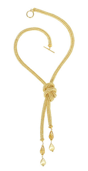 HAND WOVEN GOLD LARIAT