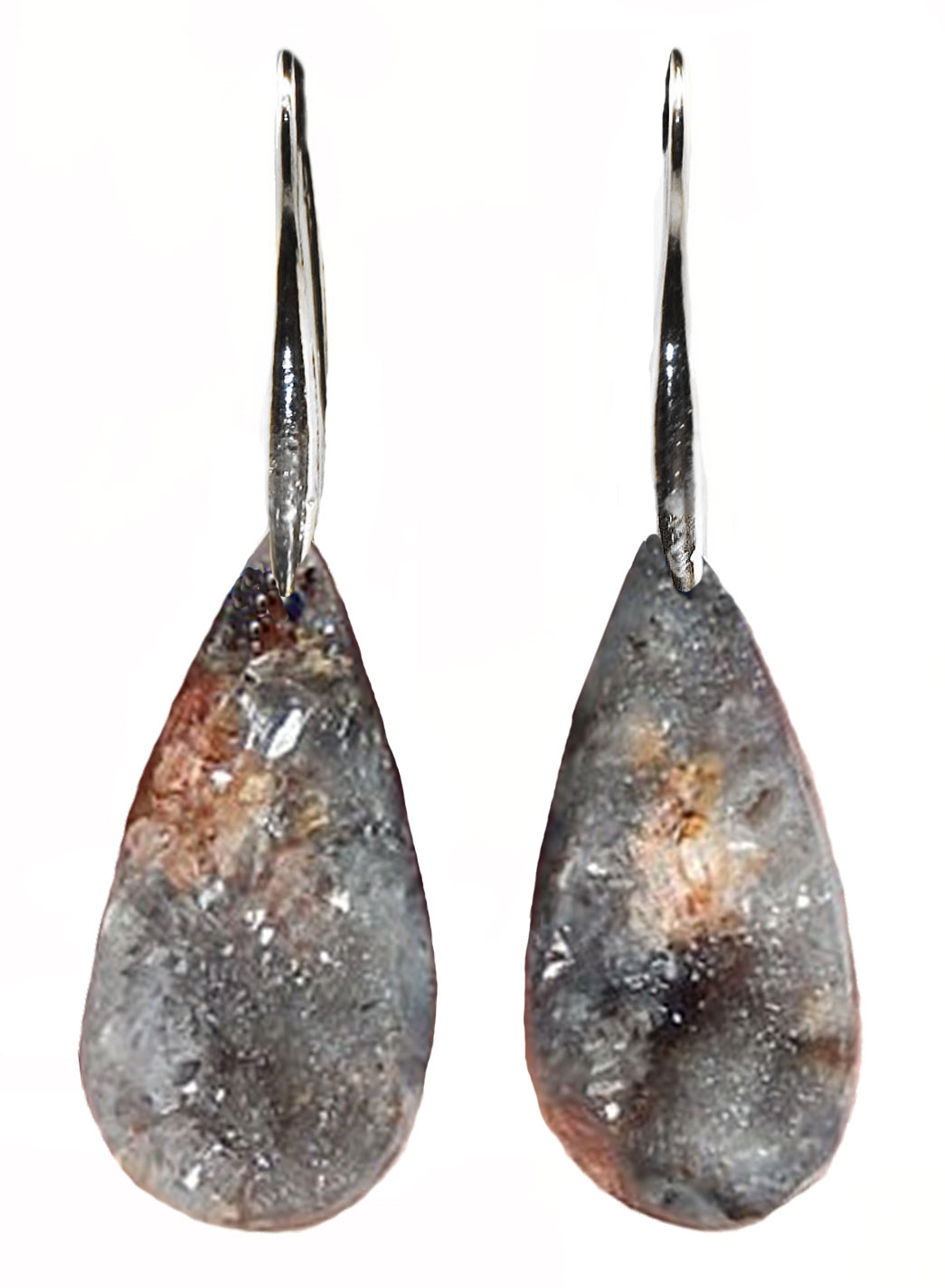 BRAZILIAN AGATE DRUSY EARRINGS