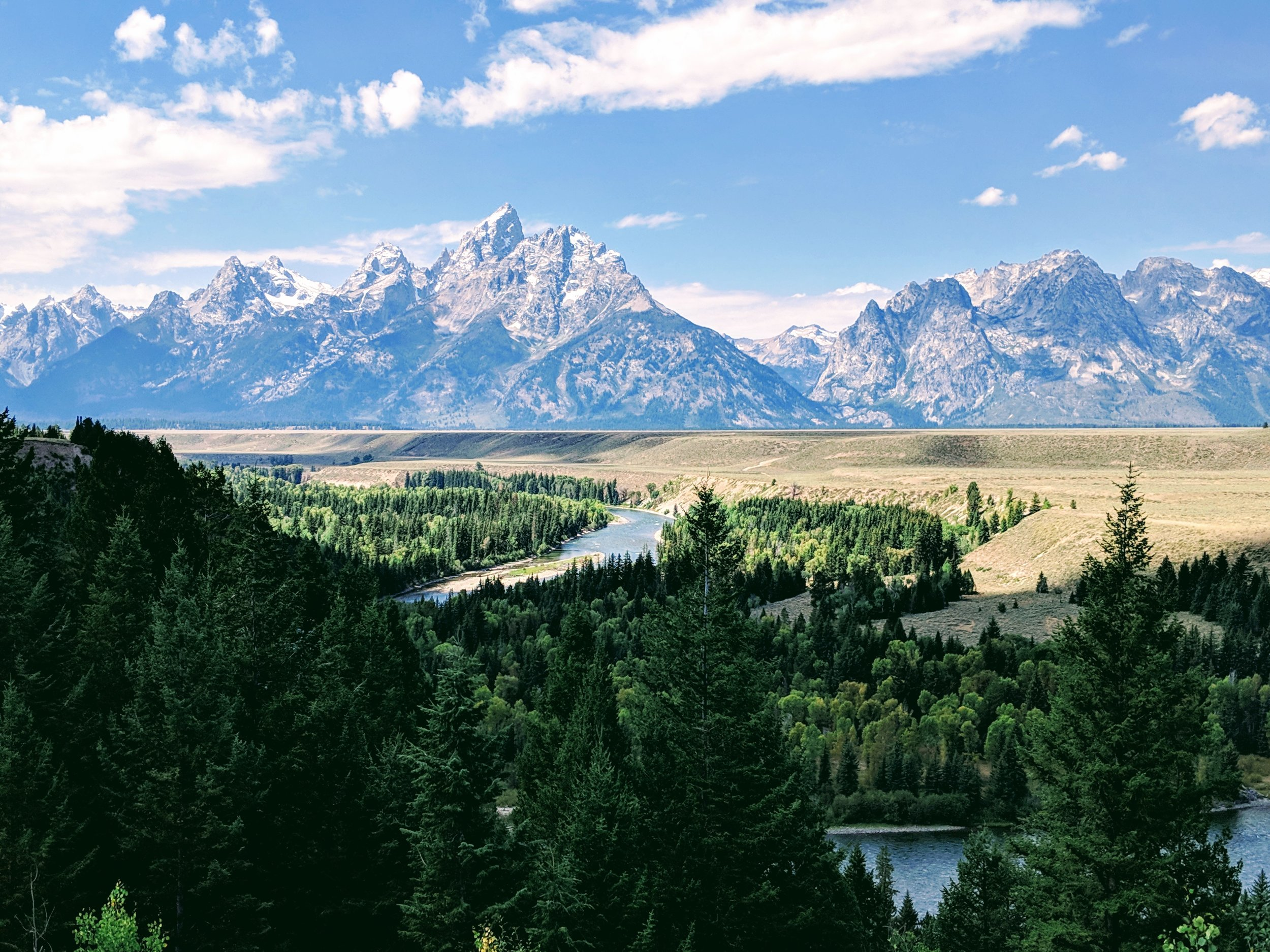 Recovering hard in Grand Teton National Park - Jackson Hole, Wyoming