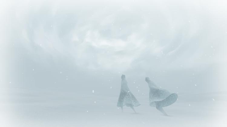 Dificil caminhada no gelo de Journey