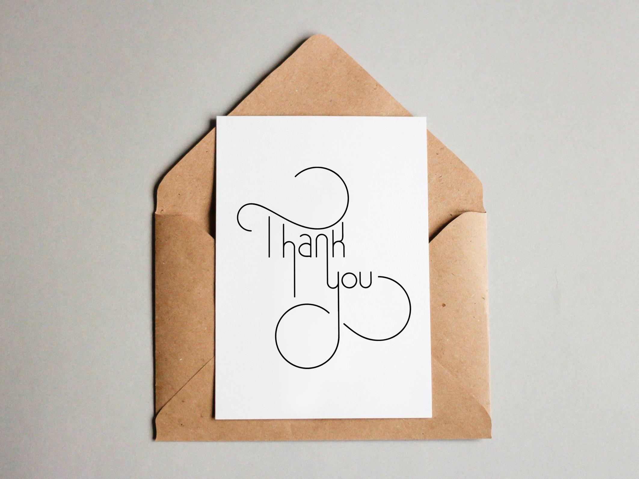 Thank You card by Lindsay Santiago
