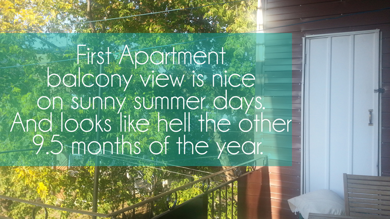 First Apartment Tips - Montreal Apartments - Renting in Montreal - Balcony View