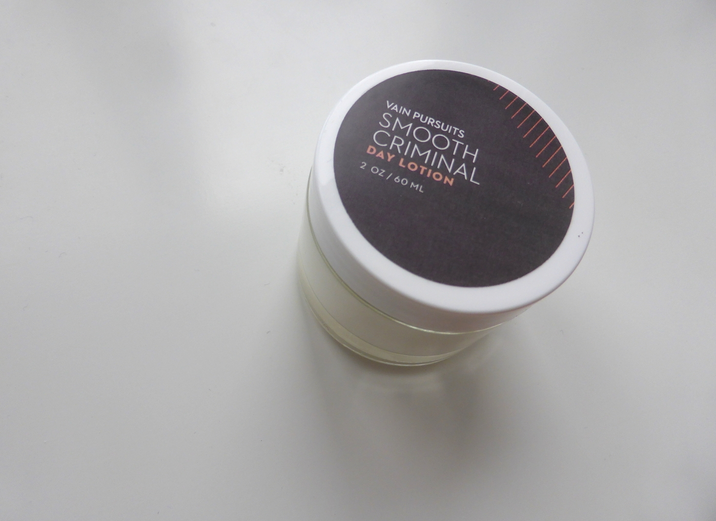 Vain Pursuits - Custom Day Lotion - Smooth Criminal with gray label - Made in Montreal