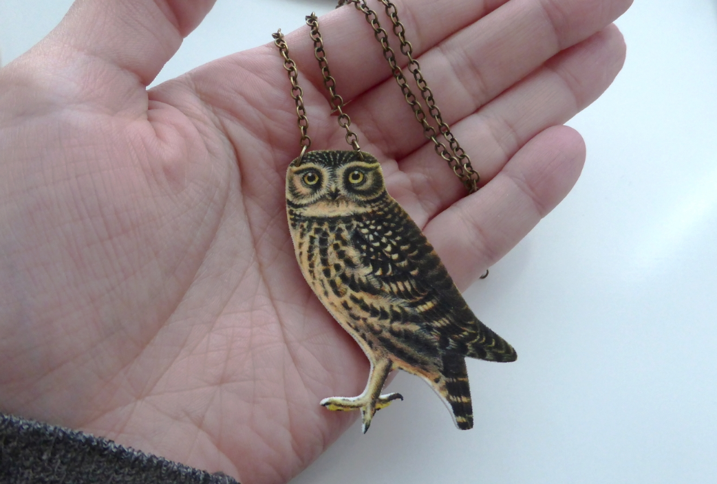 Vuela Vuela - Owl Necklace - Made in Montreal - Montreal Etsy Sellers