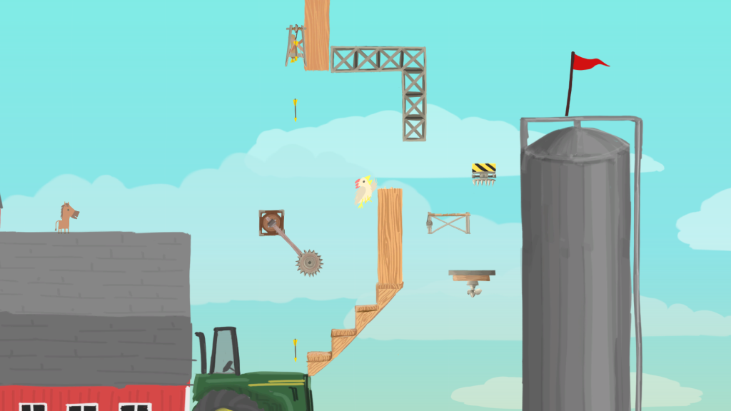 Action shot from Clever Endeavour Games' Ultimate Chicken Horse
