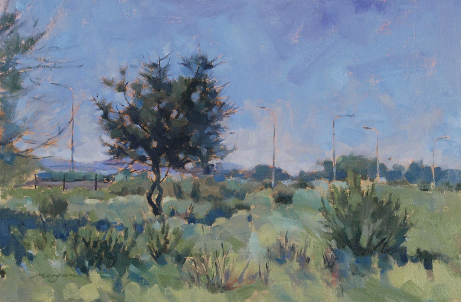 """Marina Oak   Oil on Linen, 12"""" x 18"""""""