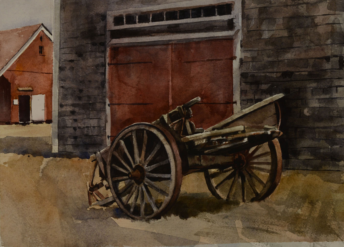 "Old Wagon   Watercolor, 11"" x 15"""