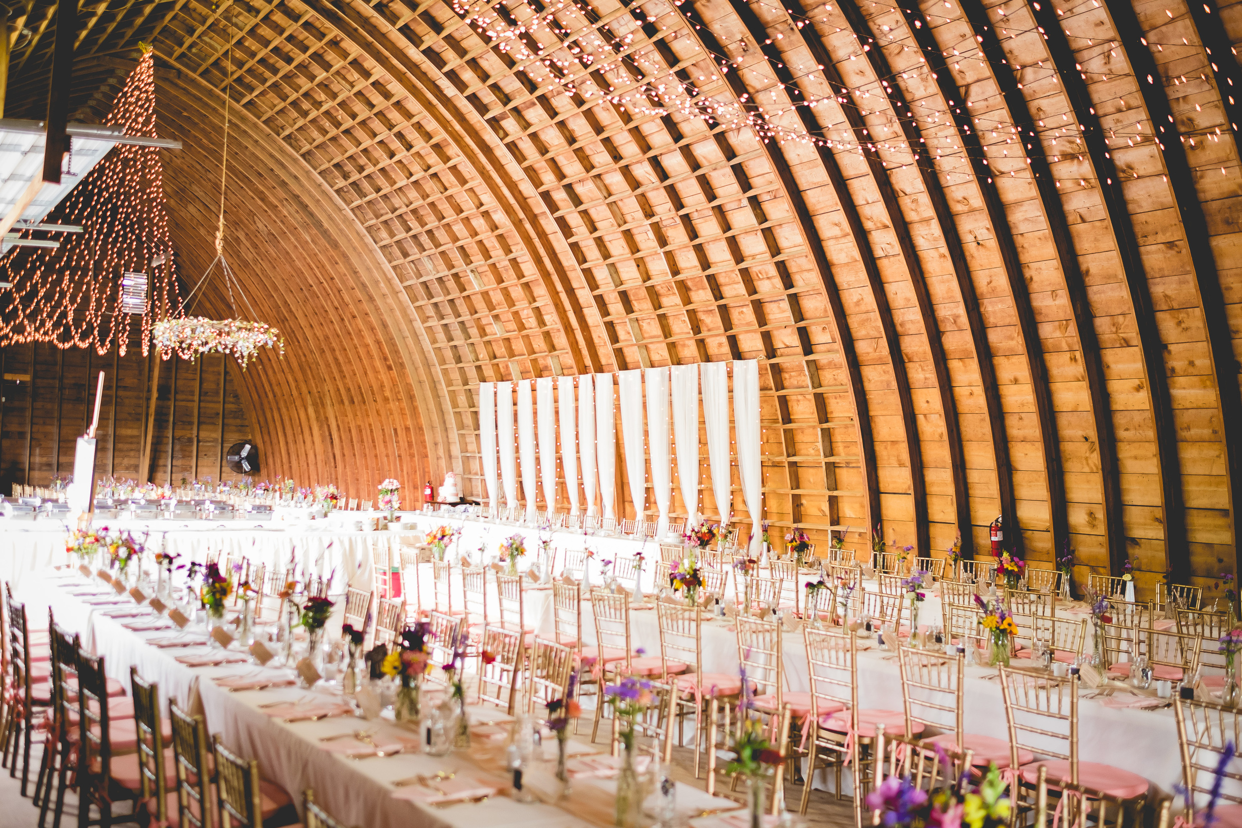 Our wood arched 4800 square foot barn