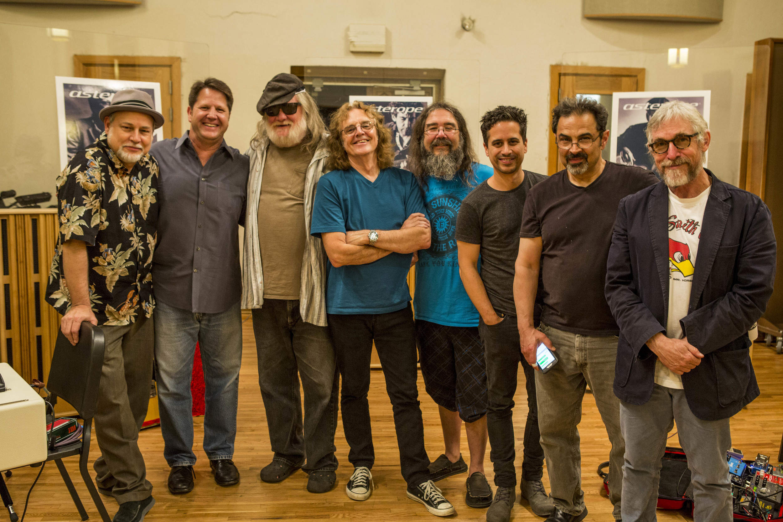 The band (from left to right) - Dave Pomeroy, Dariush Rad, Johnny Neel, Michael Spriggs, Tony Gerber, Corey Congilio, Sam Bacco and Russ Pahl  Photo by  Ed Rode