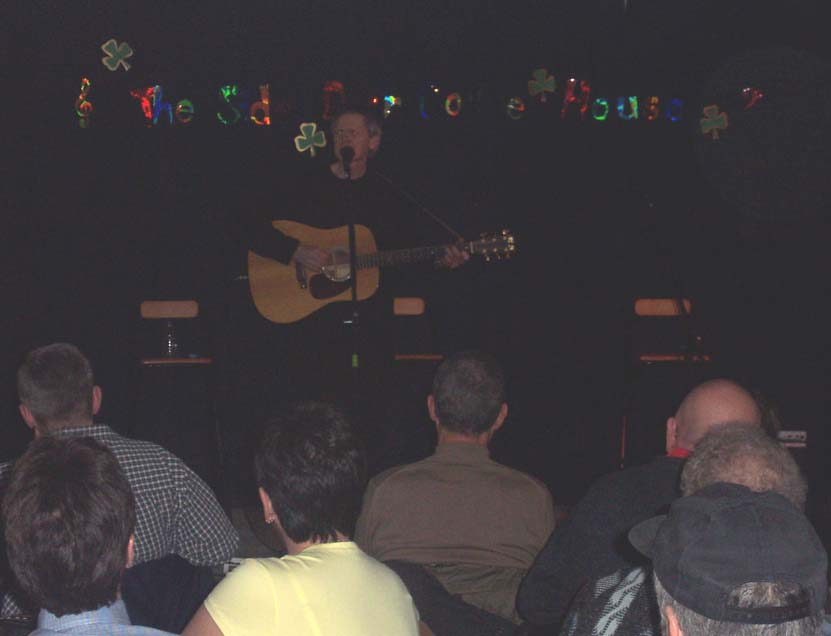 Jim Robinson at the Side Door Coffee House