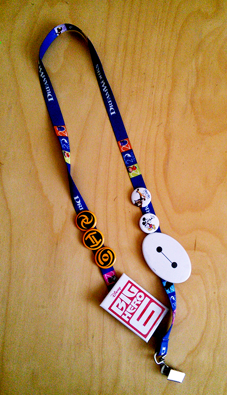 Lanyard with buttons!