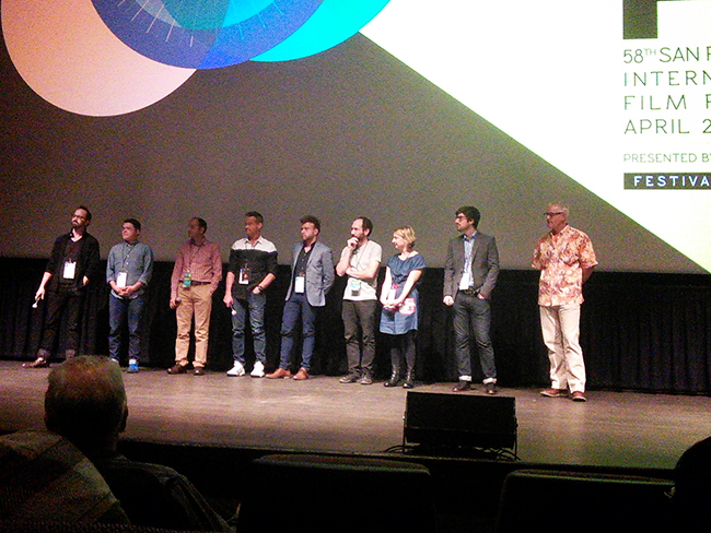 After SIFF the directors of the shorts were called onstage to give a talk