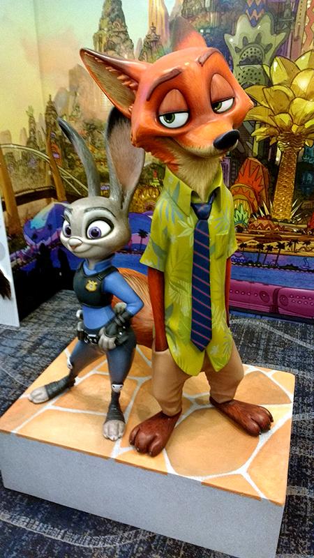 Zootopia statues at Disney