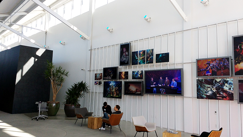 Other wall of the lobby