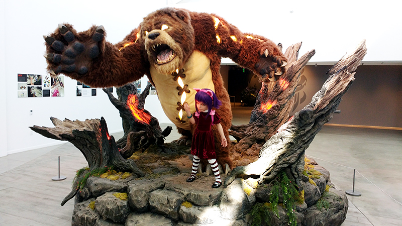 Annie & Tibbers. No more photos allowed past this statue