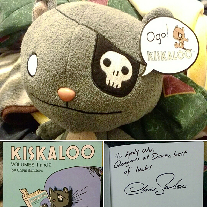 Chris Sanders wasn't at CTN but my friend got this for me at ComicCon and I finally got it now so :D