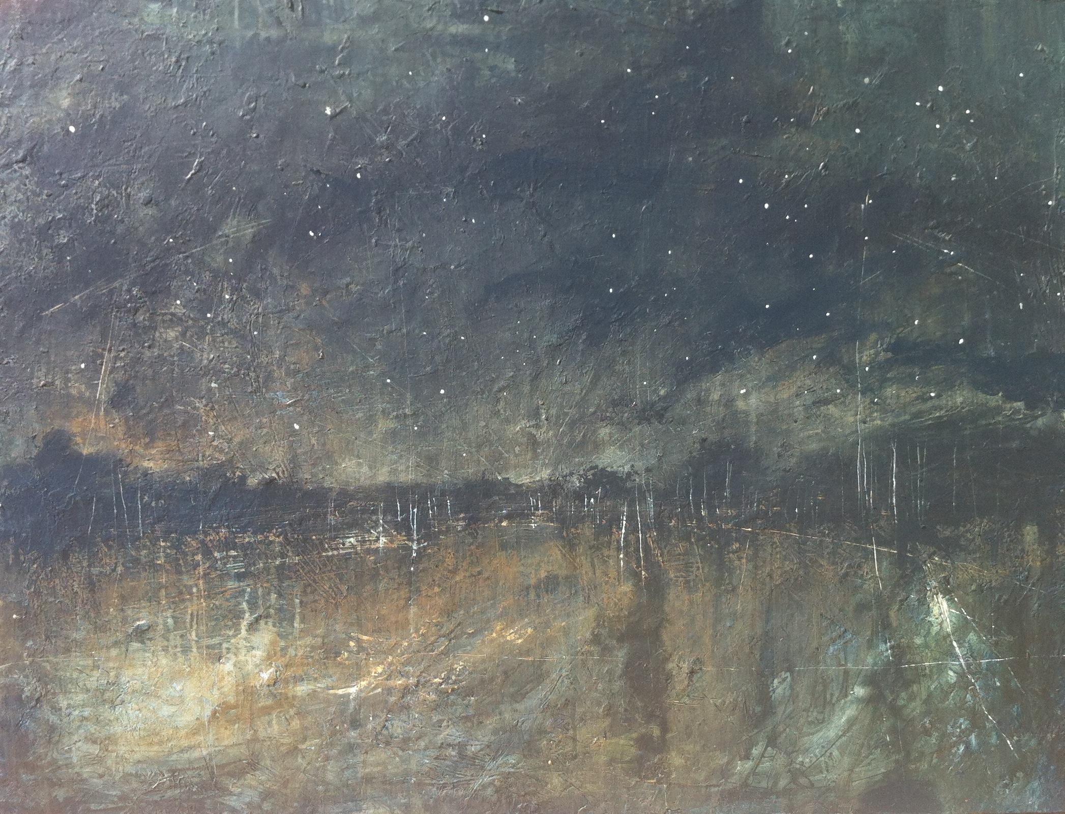 """Night,  o il on canvas, 48 x 60"""""""