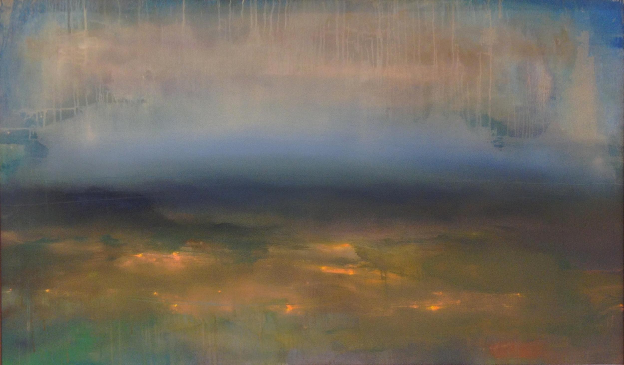 "Fireflies , o il on canvas, 36 x 60"""
