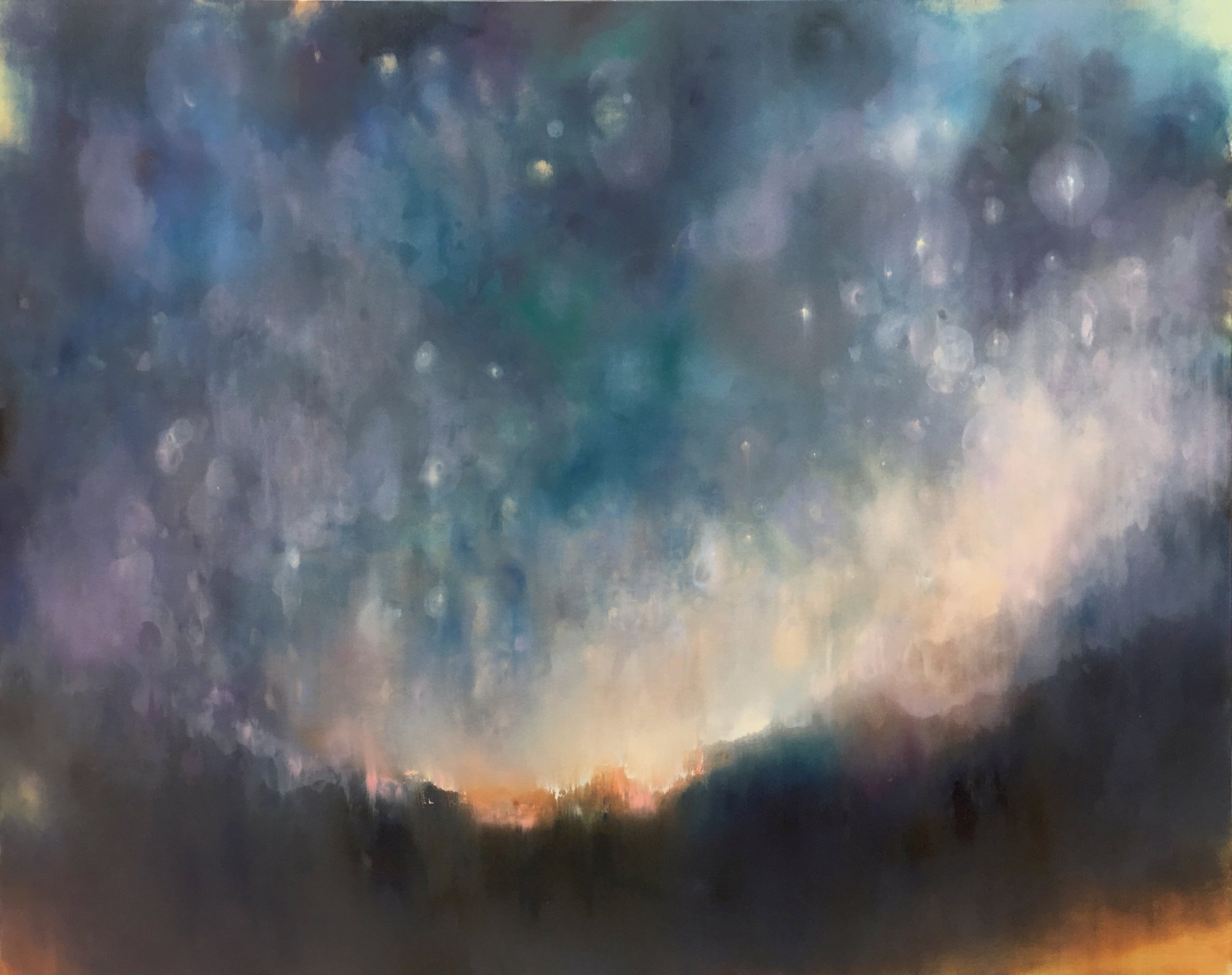 """We Move Lightly (Night 3) ,oil on canvas, 48 x 60"""""""