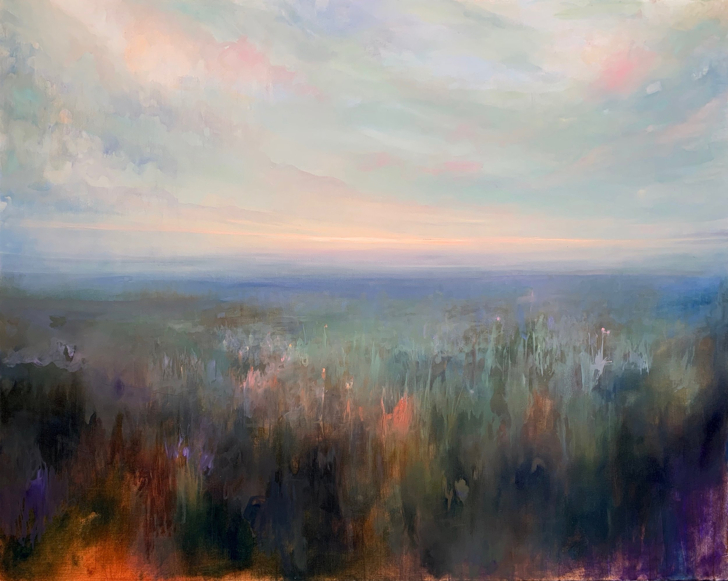 """Light is Only Now Just Breaking , oil on canvas, 48 x 60"""""""