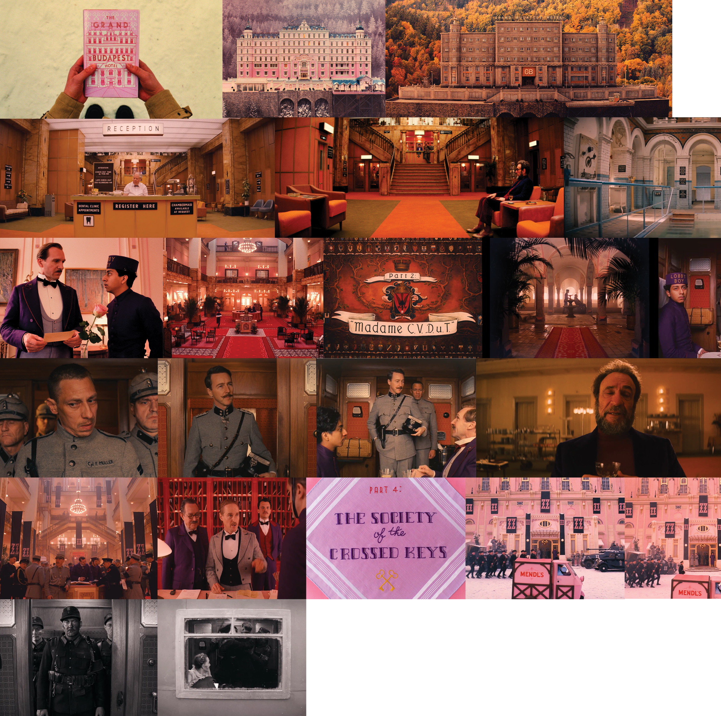 "Screenshots from ""The Grand Budapest Hotel"""