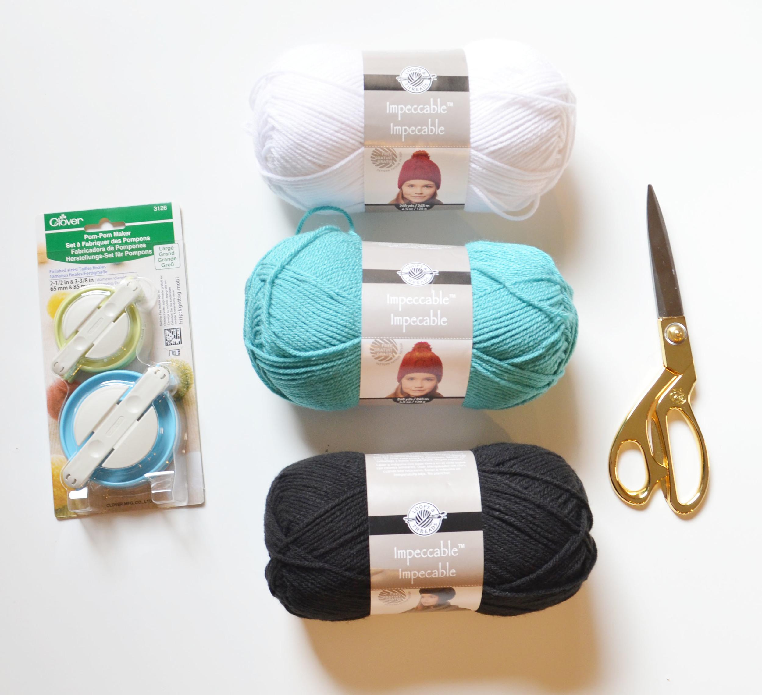 yarn ball garland diy