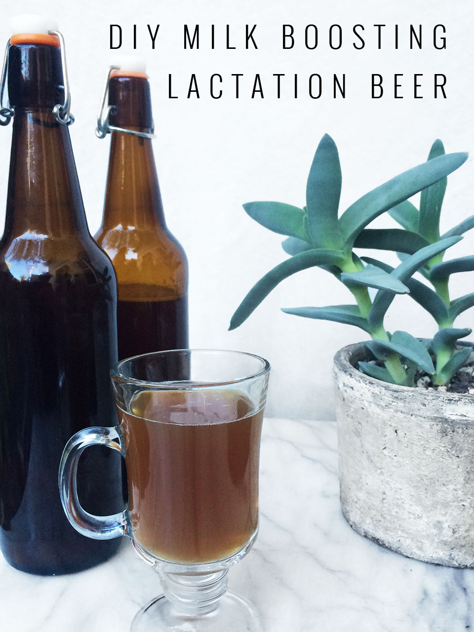 DIY Milk Boosting Lactation Beer for Breastfeeding Moms | Momma Society-The Community of Modern Moms | www.mommasociety.com | Join our party on Instagram @MommaSociety