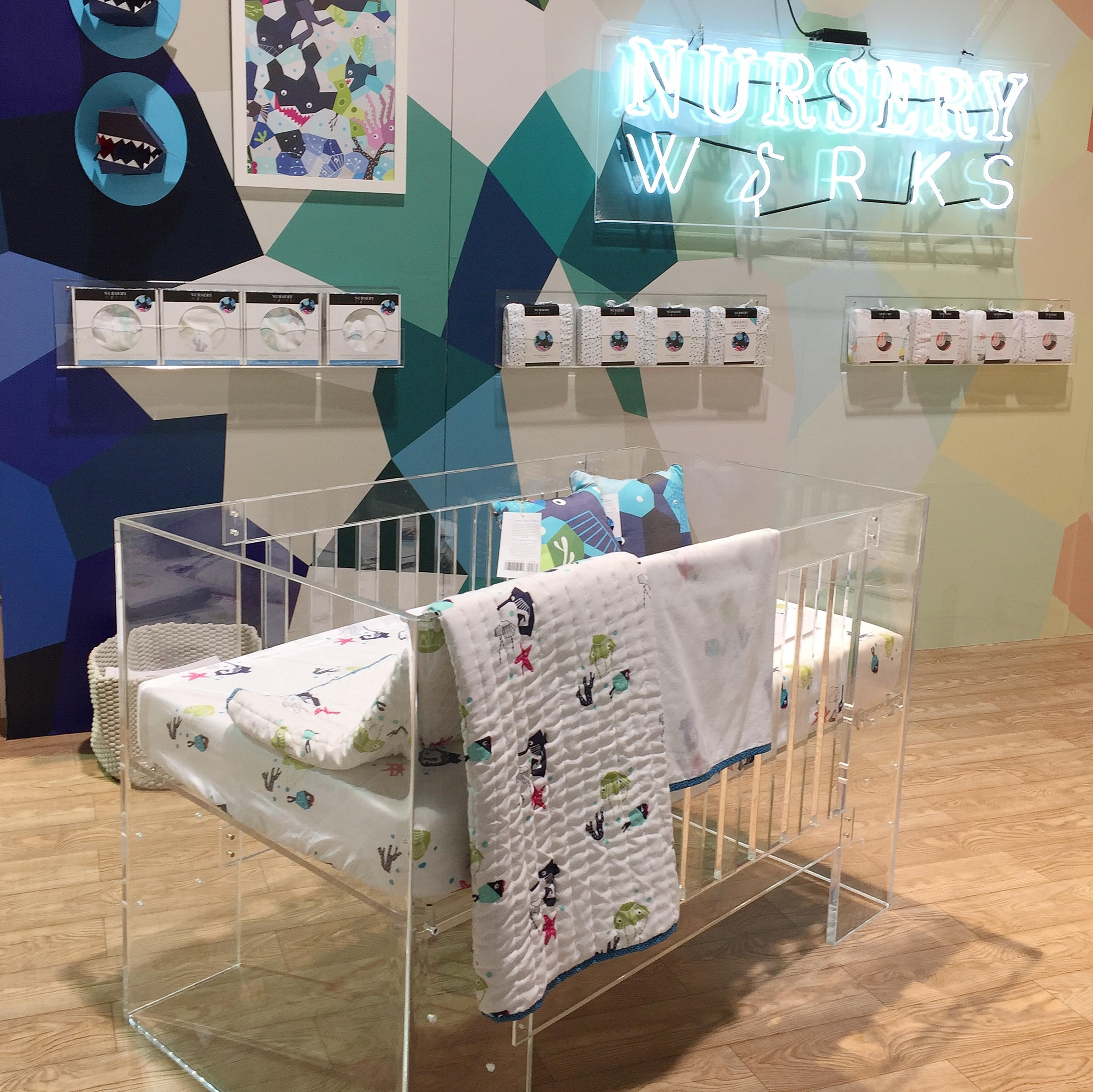 Top Baby Gear Trends for 2016 Nursery Works Acrylic Crib | Momma Society-The Community of Modern Moms | www.mommasociety.com | Join our community on Instagram @MommaSociety