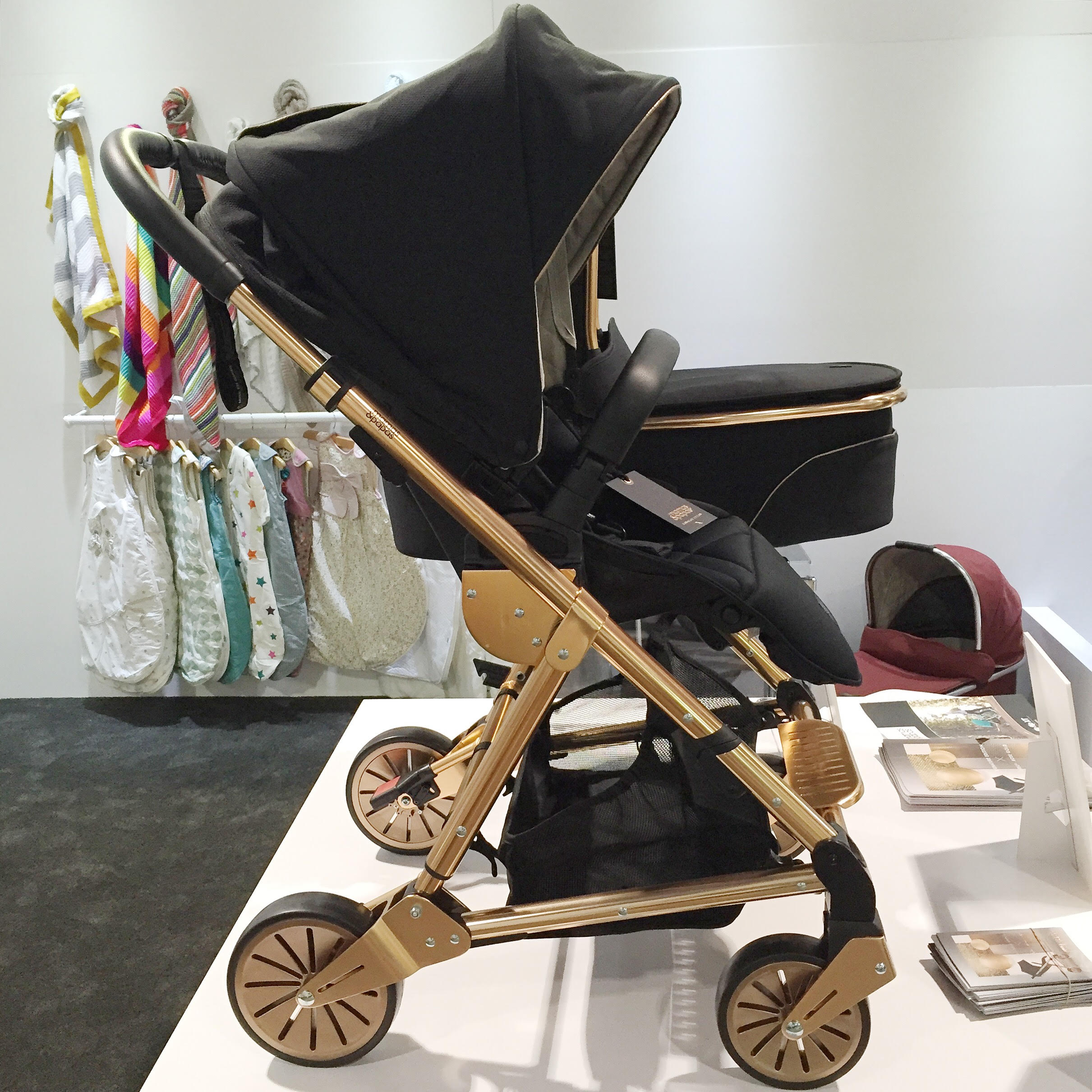 Top Baby Gear Trends for 2016 Mamas + Papas Rose Gold Stroller | Momma Society-The Community of Modern Moms | www.mommasociety.com | Join our community on Instagram @MommaSociety