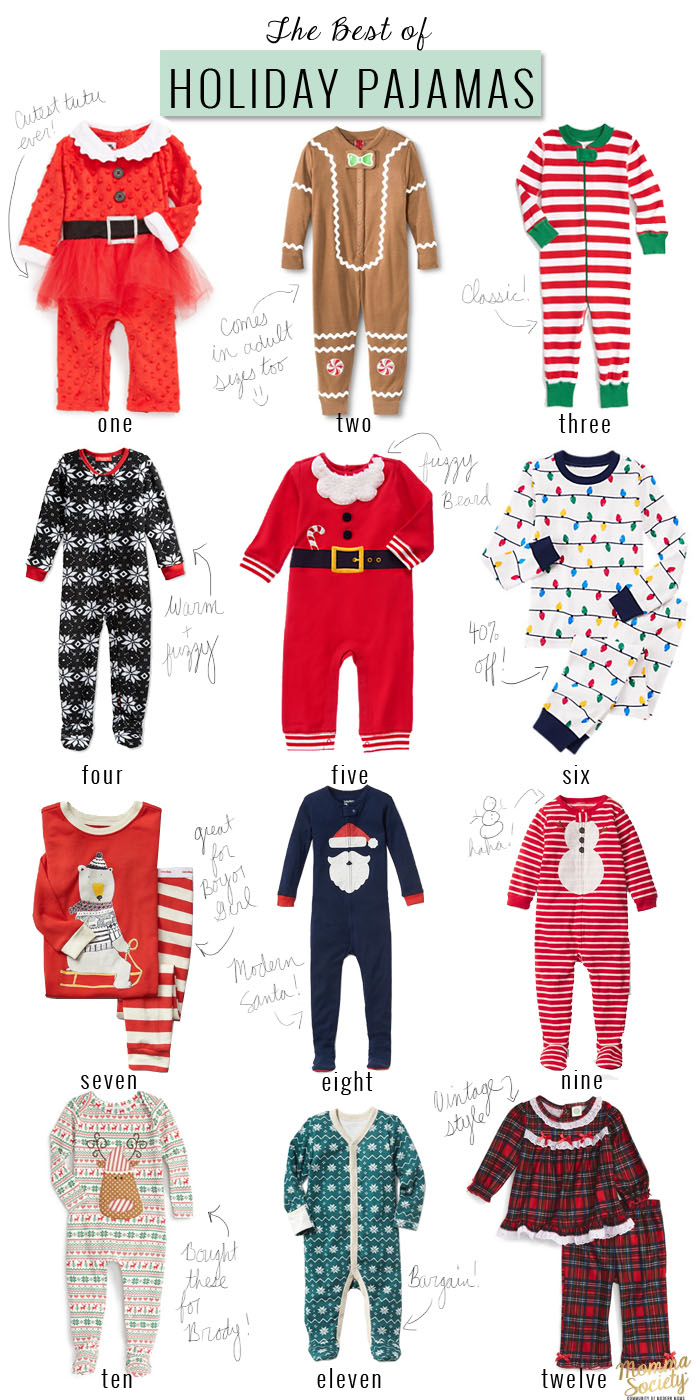 The Best Christmas Pajamas for Babies | Momma Society-The Community of Modern Moms | www.MommaSociety.com | Join our party on Instagram @MommaSociety
