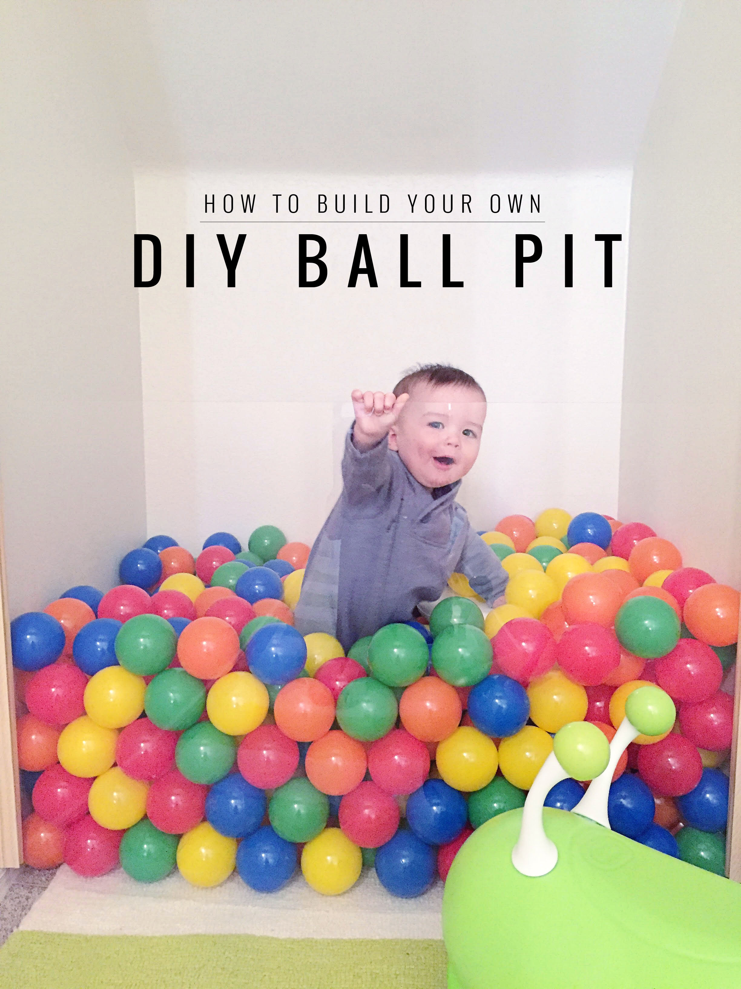 How to build a ball pit | Momma Society-The Community of Modern Moms | www.mommasociety.com | Join our party on instagram @mommasociety