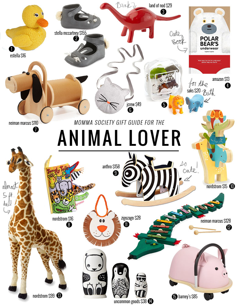 Holiday Gift Guide ideas For The Little Animal Lover | Momma Society | www.mommasociety.com
