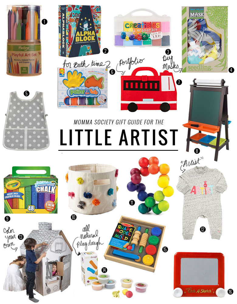 Holiday Gift Guide for The Little Artist   Momma Society-The Community of Modern Moms   www.MommaSociety.com