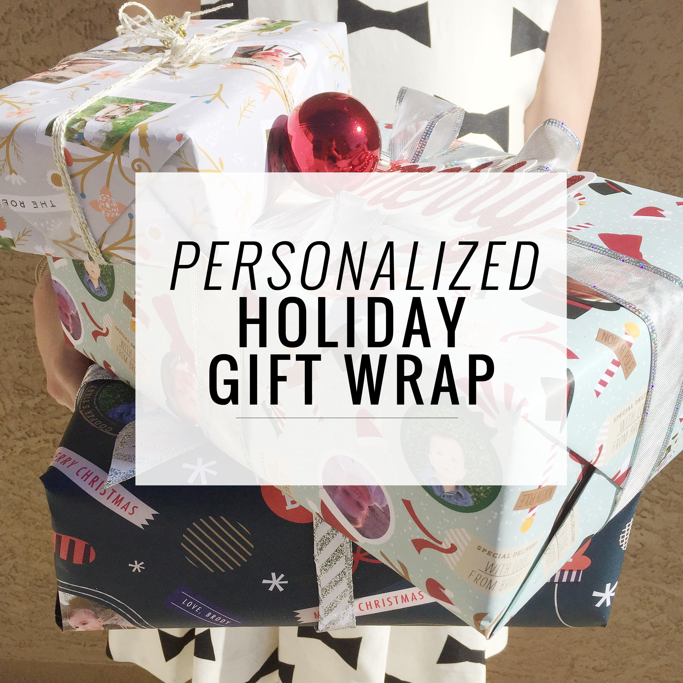 Personalized Holiday Wrapping Paper | Momma Society-The Community of Modern Moms | www.MommaSociety.com