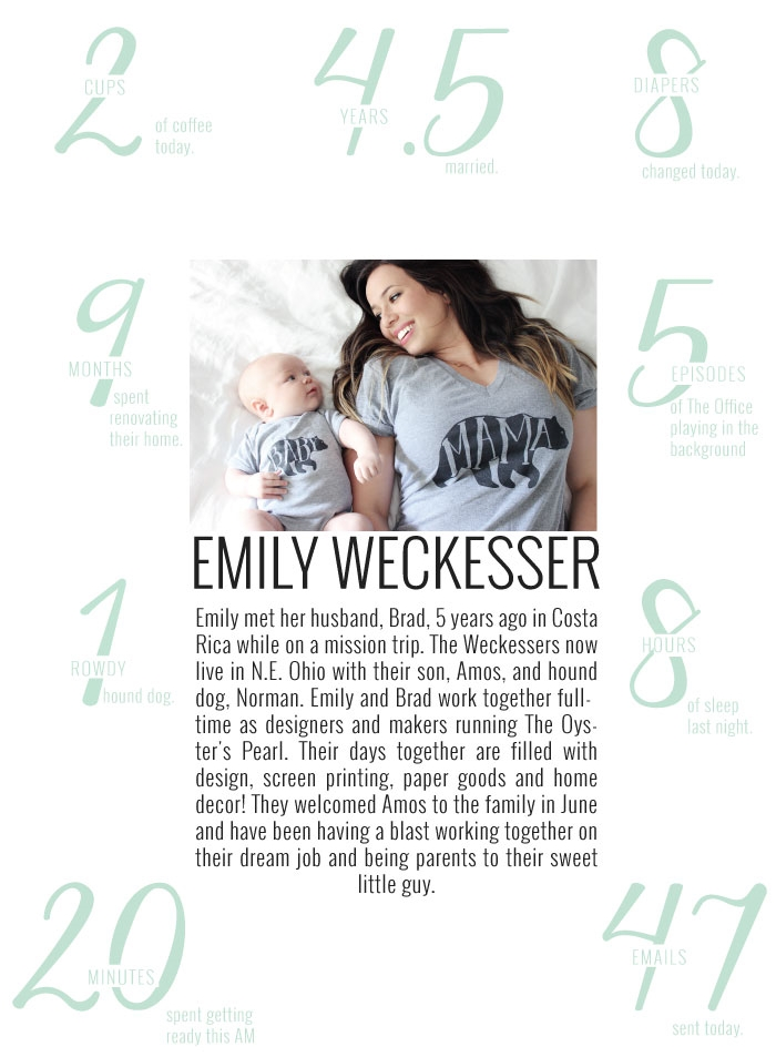 A Day In the life with Emily Weckesser of The Oyster's Pearl | Momma Society-The Community of Modern Moms | www.MommaSociety.com