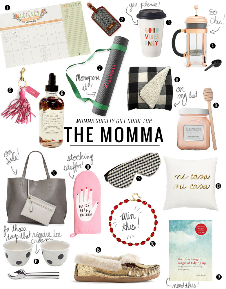 The Ultimate Holiday Gift Guide of Ides for Mom   Momma Society-The Community of Modern Moms   www.MommaSociety.com