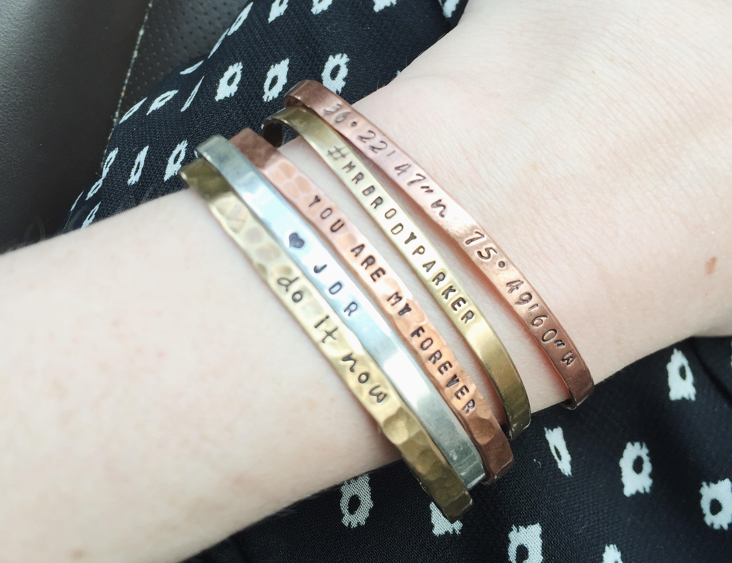 Hand Stamped Bracelets For New Mom Gifts | Momma Society-The Community of Modern Moms | www.Mommasociety.com